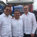 #MinMartínez coincide con homólogo de CRica, y Srio. Adjunto @OEA_oficial en inauguración ampliación #CanalPanamá. https://t.co/WRGjDO4OTU