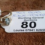 9ct gold blue topaz ring. In auction 28th June  #auction #worthing #shoreham #brighton #hove #9ct #gold #goldring https://t.co/l5ZcGl4uVp