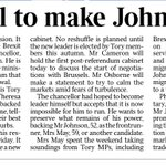 Times, contrary to Telegraph story, says Osborne is demanding foreign secretary in return for backing Boris. https://t.co/qRFD0IZJPC