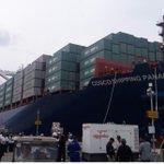 Euforia total con la llegada del Cosco Shipping Panama a Cocolí #NuestroCanalAmpliado @elsiglodigital https://t.co/B1w0S0QgKh