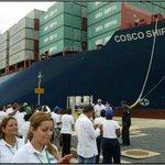 Impresionante imagen del Cosco Shipping Panamá en la Esclusa de Cocoli #orgullosamentepanameño #CanalAmpliado https://t.co/025hjGKKcR