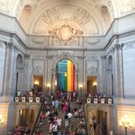 #SF city hall decked out for #pride https://t.co/yFrGODvqvH