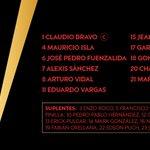 ¡Estos son los 11 jugadores que representarán a @LaRoja en la gran final de #Copa100! #ARGvCHI https://t.co/oCxPbFRyD4