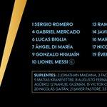 ¡Con esta alineación, el Tata Martino confía que @Argentina quedará campeón de la #Copa100! #ARGvCHI https://t.co/8apeubHRUJ