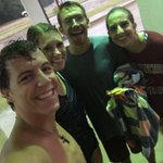 Just had a BLAST playing disc golf in the pouring rain with @LoveroMegan @hunter_hines & @JLow_2 !! https://t.co/6MfiReKg4m
