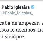 El perdedor de @Pablo_Iglesias_ usa mismo eslogan de los rojos en Venezuela. De la que se salvó España. #26Jun https://t.co/6IZ5CnShRV