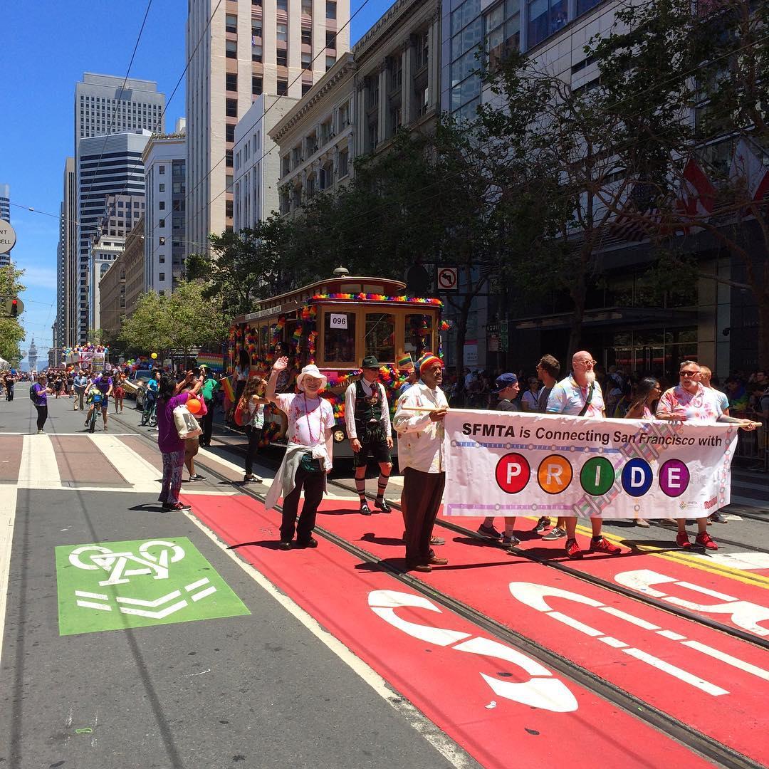 #SFMuni has #SFPride. Proud to be part of another great celebration. https://t.co/xFCkgYk0jg