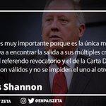 La Frase del Día│Para Tomás Shannon todo es valido para salir de la crisis: Diálogo, Revocatorio y Carta Democrática https://t.co/x2hHx5TgrY