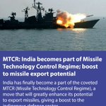 India becomes part of Missile Technology Control Regime; boost to missile export potential https://t.co/egqiV8hB4F https://t.co/YKIzf6p0pt
