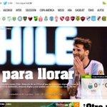 "[Fotos] ""Es para llorar"": Medios argentinos lamentaron la derrota ante Chile https://t.co/9HOL9D8RhO https://t.co/ObJcxswbDQ"