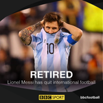 After a 3rd final defeat in 3 years, Lionel Messi has retired from international football. https://t.co/G0QG8V3vyj https://t.co/70UsDVO390