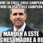 #ChileBicampeon #ChileCampeonDeAmerica #CopaAmerica jadue a Rusia porfa!!!!!! https://t.co/mgXSZcvqUY