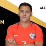 The winner of the @Mastercard #GoldenBall is @Alexis_Sanchez from @LaRoja #Copa100 https://t.co/dhnrjW6KHg