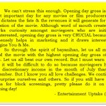 OPENING DAY GROSS IS THE MOST CRUCIAL. PLEASE SPREAD!  #ALDUBxDrewGa https://t.co/ckrTx7rR7B
