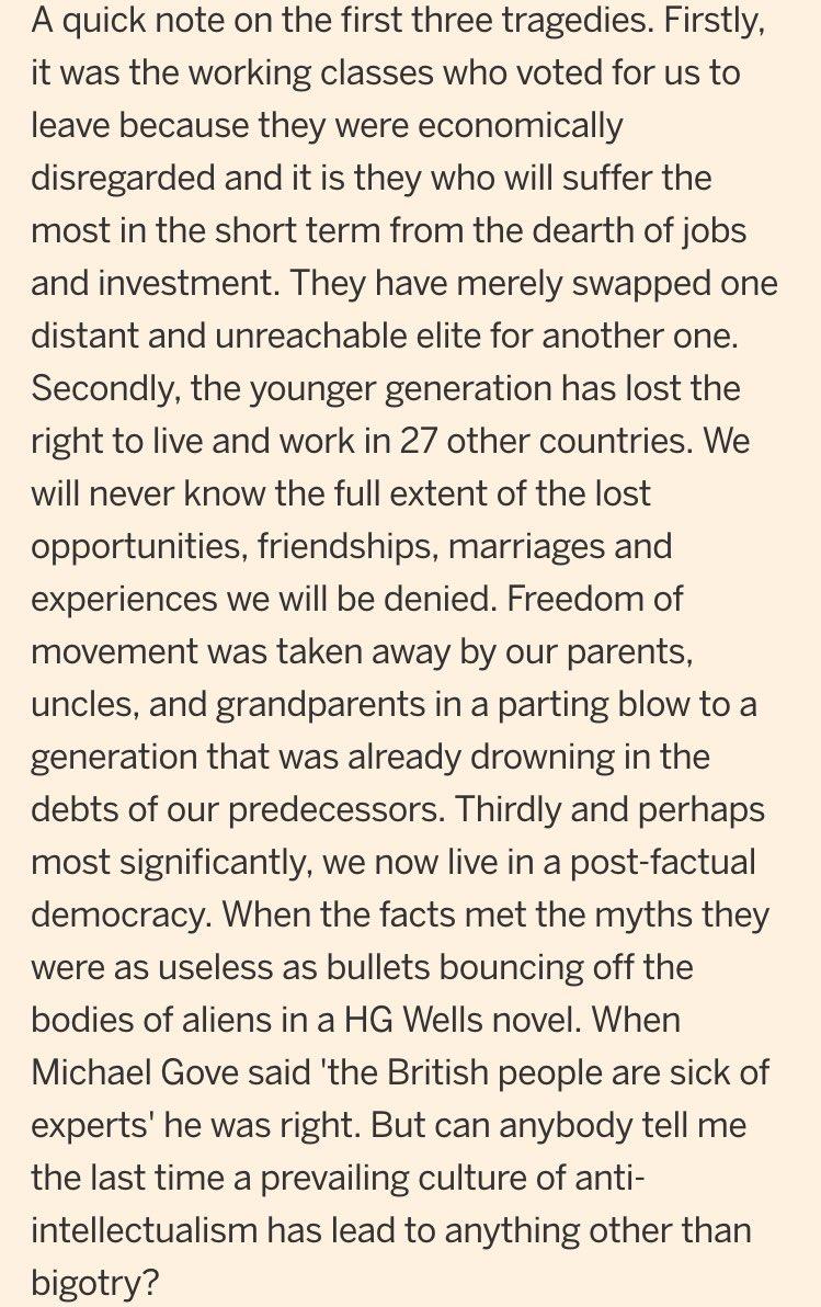 """Ira de jóvenes británicos por el #Brexit: """"Hemos perdido el derecho a vivir en 27 países"""" https://t.co/HZvFdCmzk9 https://t.co/oqMh97FcJw"""