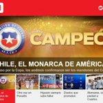 """[Fotos] Prensa internacional alabó a Chile bicampeón: """"El monarca de América"""" https://t.co/OOVCGpoXhM https://t.co/tOxDitxr3Z"""