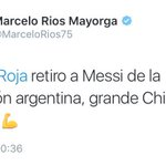 Y lo dice un número 1! @MarceloRios75 ⚪️???????????????? #vamos chilectm https://t.co/794ULvVcXr