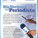 27 DE JUNIO: Día Nacional del Periodista https://t.co/uReWoK4kso