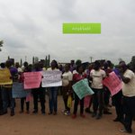 Pro Saraki protesters chanting solidarity for ever in front of the FCT High Court Jabi #NASSForgery https://t.co/fH2EJCajGt