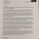 I have informed Jeremy Corbyn that I am resigning from my post of Shadow Armed Forces Minister. My letter attached. https://t.co/8ui8lGHVUP