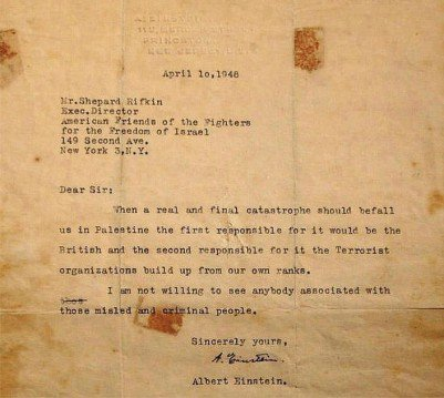 Albert Einstein was invited to be the 1st. Israeli President, he refused and feared they would become #ZioNazi's https://t.co/rHWy3pPMbX