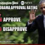 Poll: 56% approve of President Obama https://t.co/54yR1gULd1