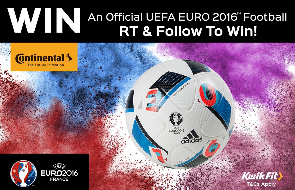 #Competition time! RT & Follow to #win 1 of 25 @UEFAEURO footballs courtesy of @ContiUK T&Cs https://t.co/7ShuGFrrbd https://t.co/0GBQOPk2cv