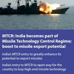 MTCR:India becomes part of Missile TechnologyControlRegime;boost to missile export potential https://t.co/kGh1e2mWbM https://t.co/TxdnLPtbIN