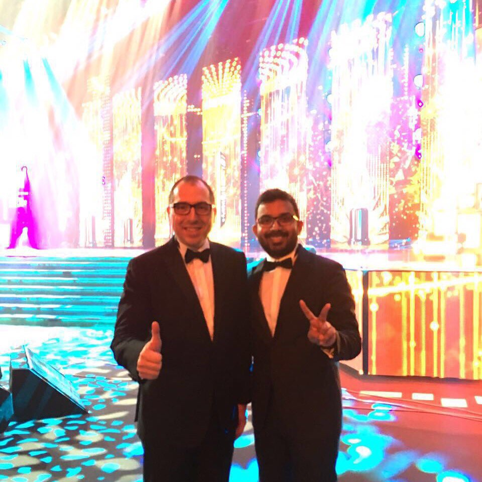 Spotlight on our superstars! Mr. JR Mayer and Chief Pathman at the IIFA Awards in Madrid, Spain. #WeAreTheV https://t.co/kIZ3hR5BUx