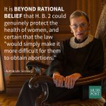 Ruth Bader Ginsburgs concurrence on the Supreme Courts decision to strike down Texas abortion law https://t.co/R07aBam4AL