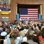 .@HillaryClinton telling the stories of Ohioans in Cincinnati today. Thats who she is - she listens. #ImWithHer https://t.co/jPCPj5Fpf9