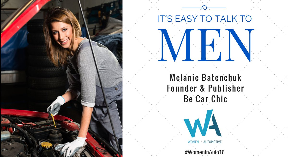 Today's the day! I'll be speaking on how to communicate with men at #WomenInAuto16. Stop by my workshop at 9:55! https://t.co/ssq6tTYoXX
