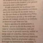 Personas como Rodolfo merecen nuestro reconocimiento y gratitud. Estos gestos, por escasos, hay que difundirlos. https://t.co/QFGQV1yU1O