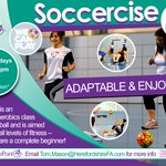 """#Soccercise  """"Enjoyable and Adaptable"""" - You dont have to be a Footballer to take part!  #HerefordHour https://t.co/lLYvZXUccp"""