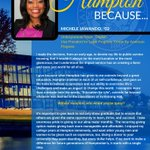 """Michele Jawando 02 asks, """"without Hampton, who would you be today?""""  #GETUPHU  https://t.co/3DqfB6ps7s https://t.co/lNUAgOGpis"""