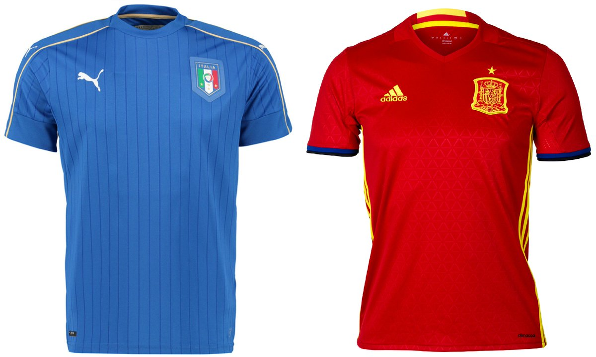 Can Conte's men overcome La Roja? Get your Italy or Spain kit for this epic #Euro16 clash https://t.co/dK2haJFHWX https://t.co/4llvpLnfc4