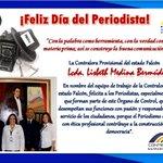 La Contralora Provisional del estado Falcón, Lisbeth Medina Bermúdez, felicita a los periodistas en su día https://t.co/AALq4mOsvI