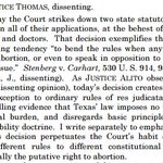 """Thomas dissent: Majority voted """"at the behest of abortion clinics and doctors."""" https://t.co/4JY23IirwV"""