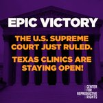 BREAKING: Supreme Court rules 5-3 to #StopTheSham and protect abortion access! #MyDecision https://t.co/tikkMd9kES