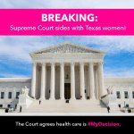 #SCOTUS ruling on #HB2 is a win for women, but its just a first step. #MyDecision https://t.co/UEatutANNk https://t.co/hFLMmXFwvF