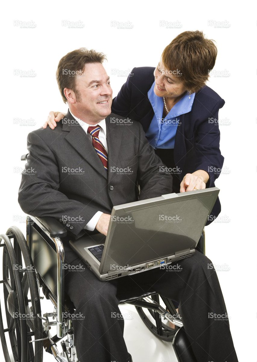 I think these stock photo models are running a disability scam. https://t.co/MoZ3sY8bCW