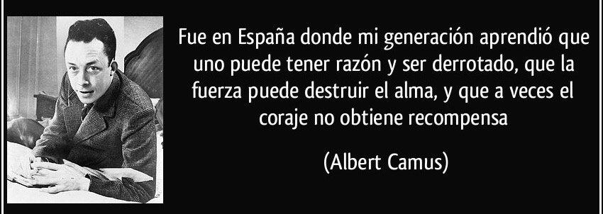 Ante las cosas que se leen y se escuchan tras el #26J , conviene recordar a Albert Camus. https://t.co/tYasDxtxaJ