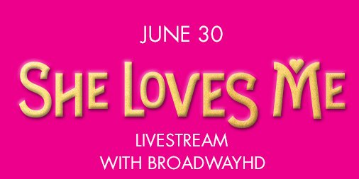 We're proud to announce a LIVE presentation of #SheLovesMe with @BroadwayHD! Learn more: https://t.co/kQlMM3qHvI https://t.co/TUdPDNqQjT