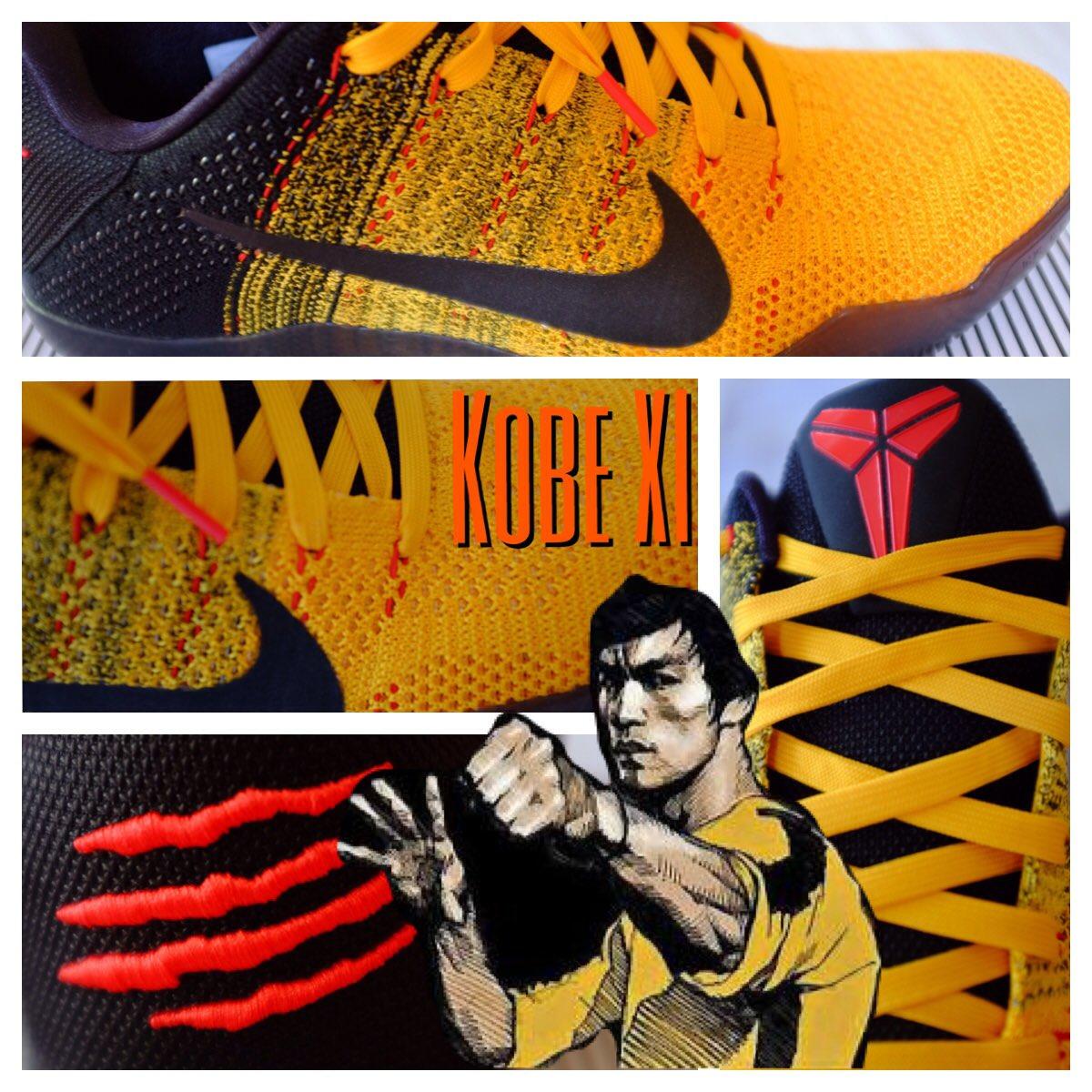 Luv my new #kicks #kobe11 #BruceLee #Nike @kobebryant @nikebasketball https://t.co/L0cPVdkNl4