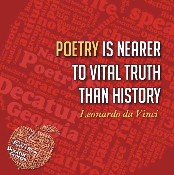 Activism through poetry! | National Poetry Slam | August 1-6 | Decatur, GA #npsdecatur #wisdomwednesday #quote https://t.co/fO7vahRZi9