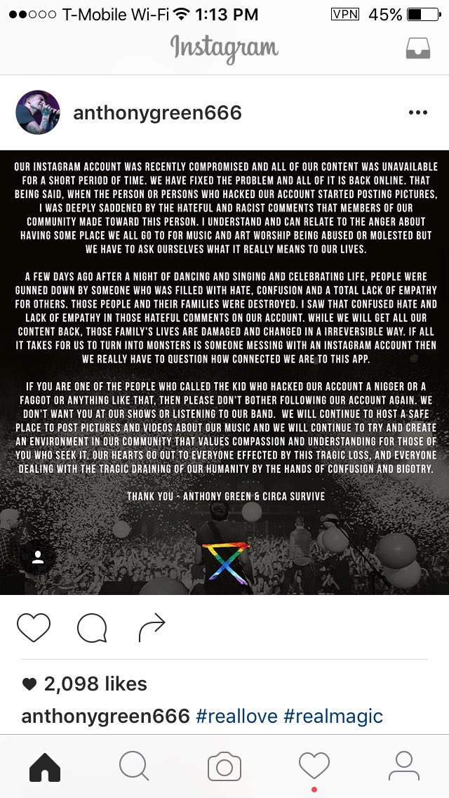 We are the ones who believe in #REALlove and #REALmagic ! #circasurvive #orlandostrong