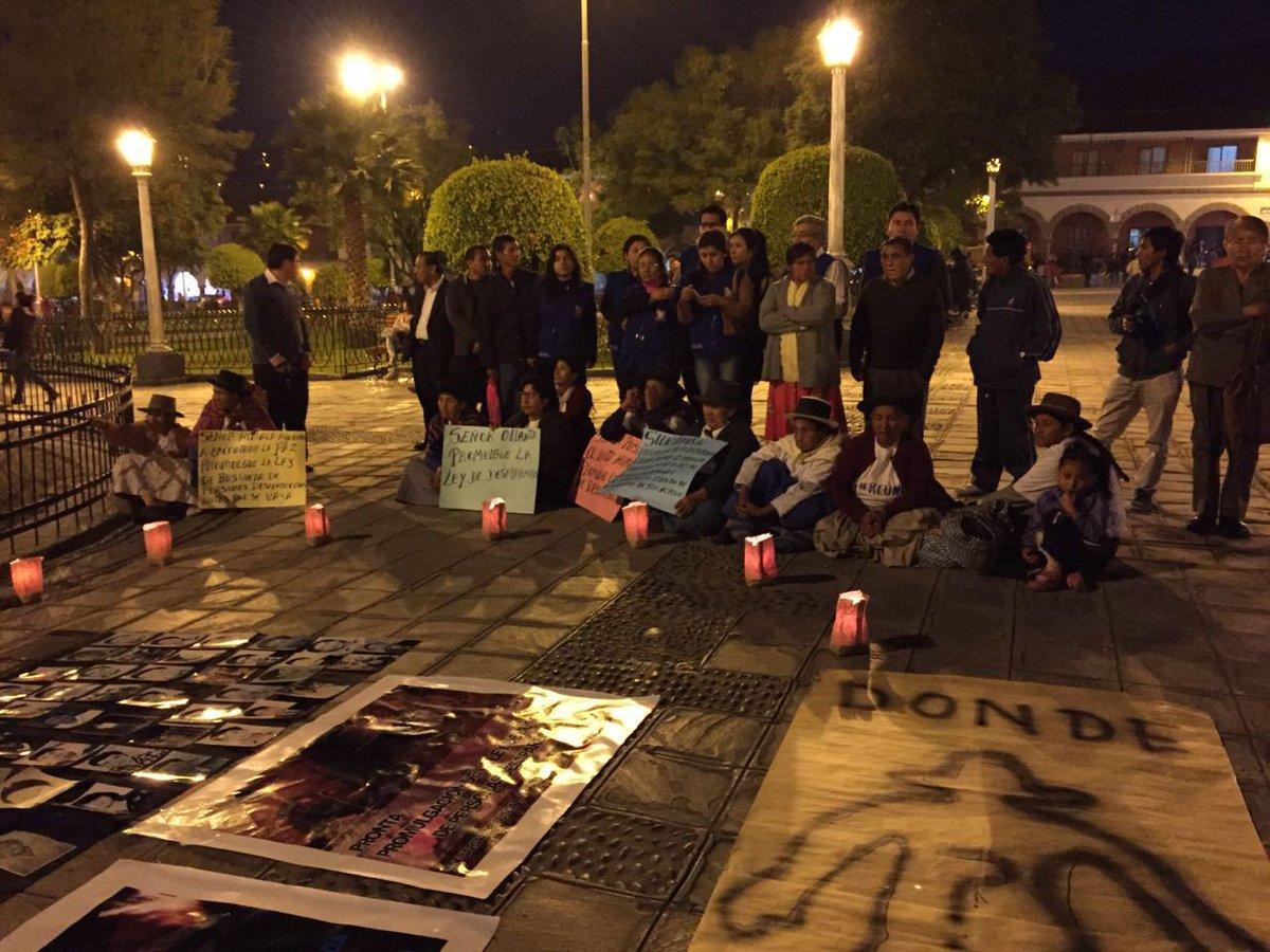 En vigilia, pueblo ayacuchano espera con expectativa la promulgación de la Ley de búsqueda de personas desaparecidas https://t.co/GS9iXowG5h