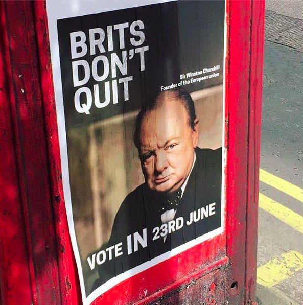 Brits don't quit #Churchill #Brexit #Bremain https://t.co/sy4jFkpx3d
