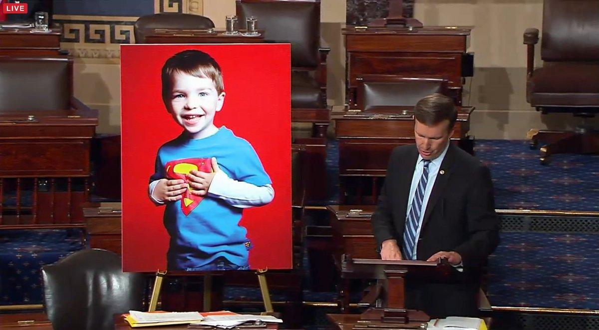 .@ChrisMurphyCT ends with the story of a Sandy Hook victim. Very powerful. #Enough #filibuster #holdthefloor https://t.co/zDMB5rVtp3