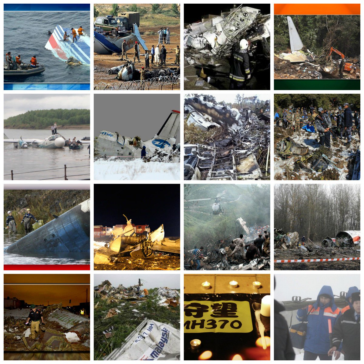 Timeline: A recap of the worst air crashes in civilian aviation since 2000
